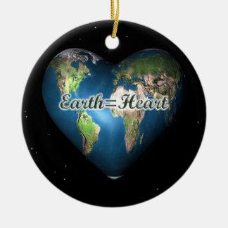 Earth=Heart Christmas Tree Ornament