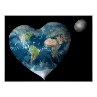 Earth Heart Print