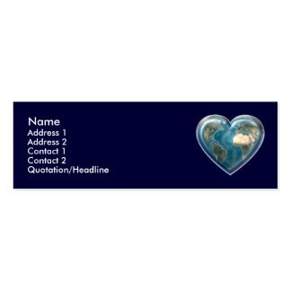 Earth Heart Profile Card Double-Sided Mini Business Cards (Pack Of 20)