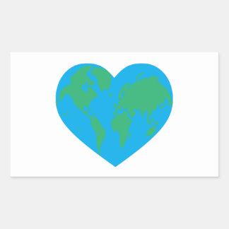 Earth Heart Rectangular Sticker