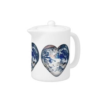 Earth Heart zazzle_teapot