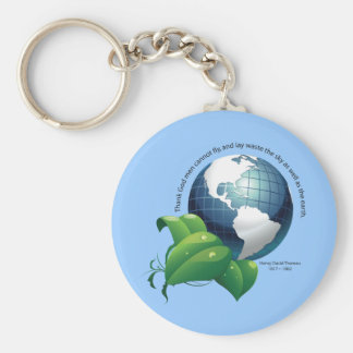 Earth ~ Henry David Thoreau Quotation Key Chains