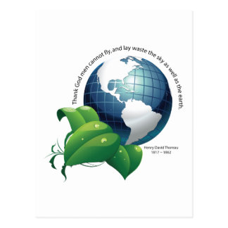 Earth ~ Henry David Thoreau Quotation Postcard