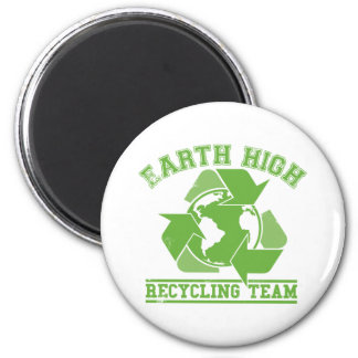 Earth High Recycling 2 Inch Round Magnet