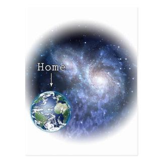 Earth Home Postcard