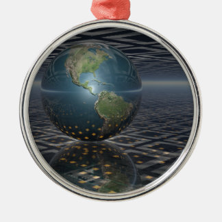 Earth Horizons Metal Ornament