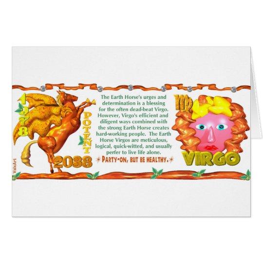 Earth Horse zodiac born in  Virgo 1978 Card