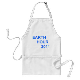 Earth Hour 2011 Adult Apron