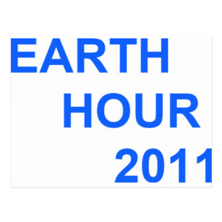 Earth Hour 2011 Postcard