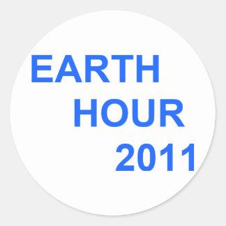 Earth Hour 2011 Round Sticker