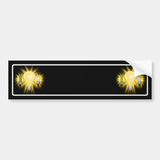 Earth Hour - 2u Energy saver Regular Bulb Bumper Stickers