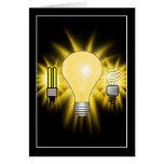 Earth Hour - 2u, Energy saver & Regular Bulb Greeting Card