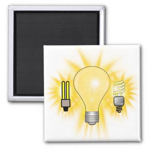 Earth Hour - 2u, Energy saver & Regular Bulb Fridge Magnet