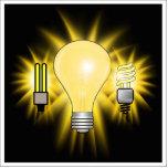 Earth Hour - 2u, Energy saver & Regular Bulb Acrylic Cut Outs