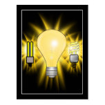 Earth Hour - 2u, Energy saver & Regular Bulb Postcard