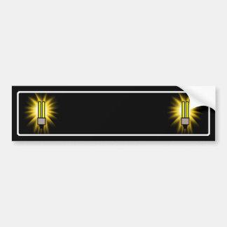 Earth Hour - 2u Light Bulb Bumper Sticker