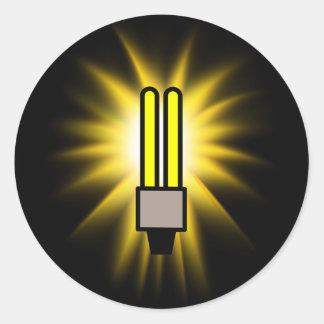Earth Hour - 2u Light Bulb Round Stickers