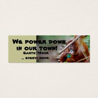 Earth Hour Bookmarks Mini Business Card