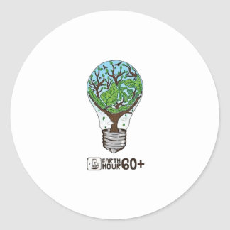 Earth Hour Classic Round Sticker