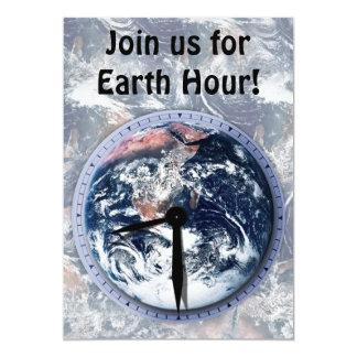 Earth Hour Clock 8:30pm 5x7 Paper Invitation Card
