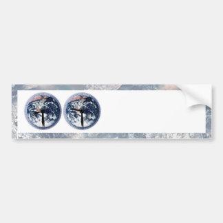 Earth Hour Clocks 830-930 Bumper Sticker