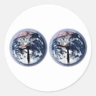 Earth Hour Clocks 830-930 Round Sticker