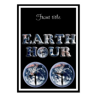 Earth Hour -  Earth Text w/Clocks 830-930 Business Card Templates