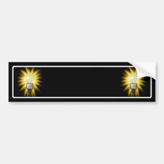 Earth Hour - Energy Saver Light Bulb Bumper Sticker