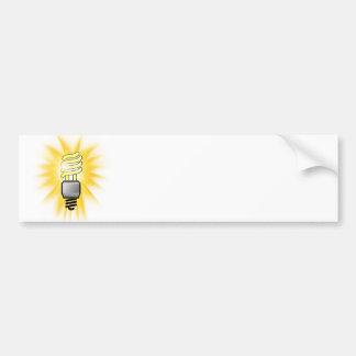 Earth Hour - Energy Saver Light Bulb Bumper Stickers