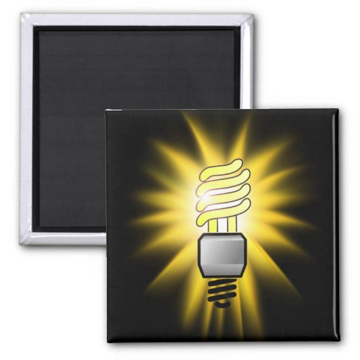 Earth Hour - Energy Saver Light Bulb Refrigerator Magnet