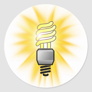 Earth Hour - Energy Saver Light Bulb Round Sticker