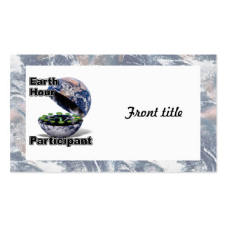 Earth Hour Participant Business Cards