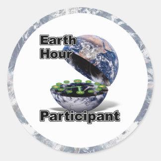 Earth Hour Participant Classic Round Sticker