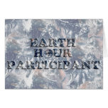 Earth Hour Participant -  Earth Text W/Clock Greeting Card