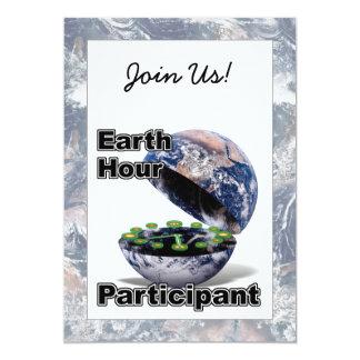 Earth Hour Participant 5x7 Paper Invitation Card