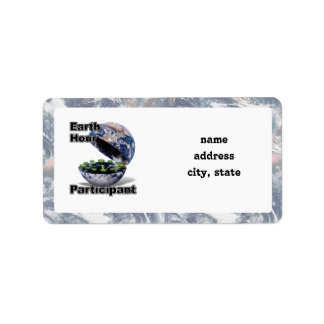 Earth Hour Participant Address Label