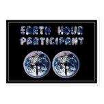 Earth Hour Participant (w/Clocks) Business Card Templates
