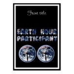 Earth Hour Participant (w/Clocks) Business Card