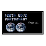 Earth Hour Participant (w/Clocks) Business Cards
