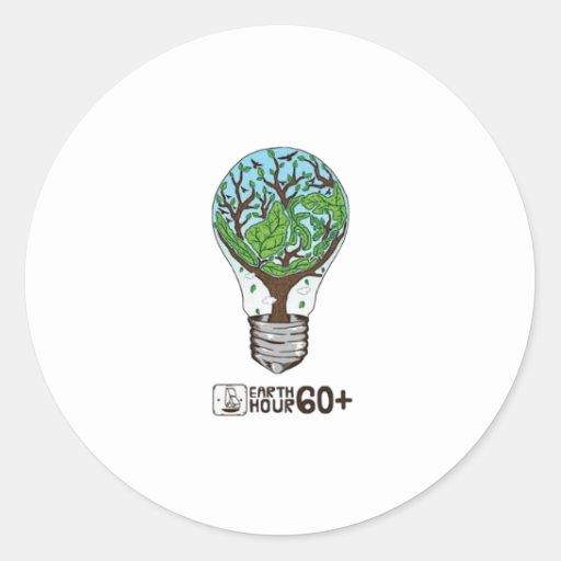 Earth Hour Round Sticker