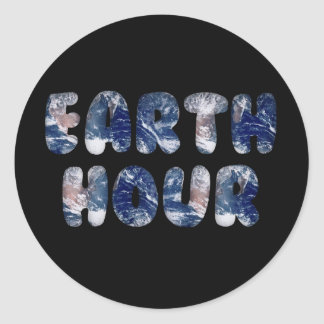 Earth Hour Text Image Sticker