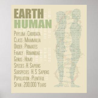 Earth Human Print