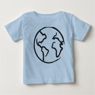 Earth illustration kids shirt