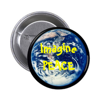 earth, ImaginePEACE Pinback Button