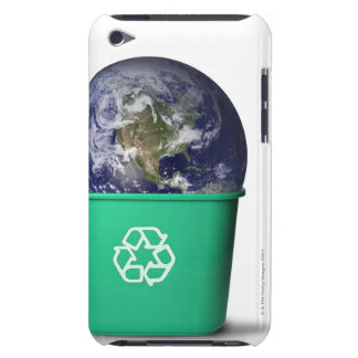 Earth in a recycle bin Case-Mate iPod touch case