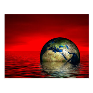 Earth in danger postcard