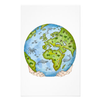 Earth in our hands stationery