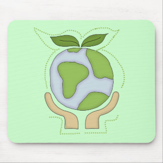 Earth in Our Hands T-shirts and Gifts Mouse Pad