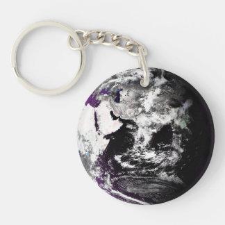 Earth In Purples Keychain