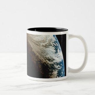Earth in Shadow and Light Two-Tone Coffee Mug